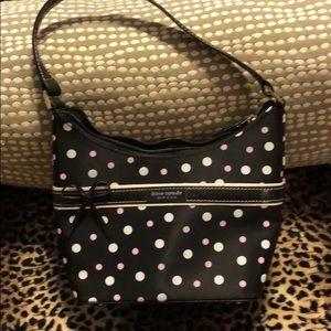 Little black polka dot fiooted bag Kate Spade
